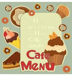 Design Cafe Menu vector image