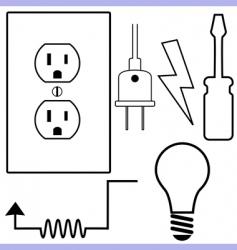 electrical symbols vector image vector image