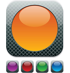 High-detailed buttons vector image vector image