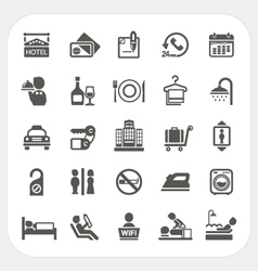 Hotel and hotel services icons set vector