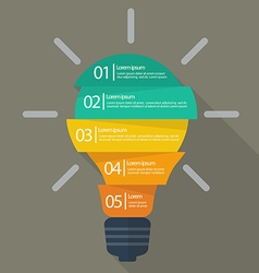 light bulb infographic vector image vector image
