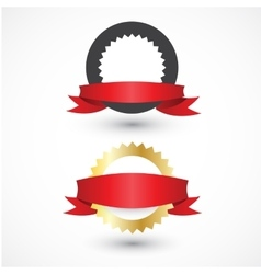 set of labels with ribbons for your design vector image vector image