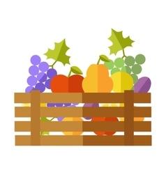 Fresh Fruits at the Market vector image