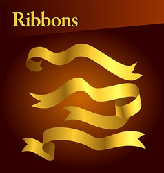 golden ribbons vector image