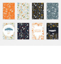 Set of brochures templates with floral pattern vector image