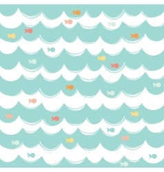 Simple seamless sea background vector image vector image