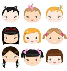 Baby girls vector image vector image