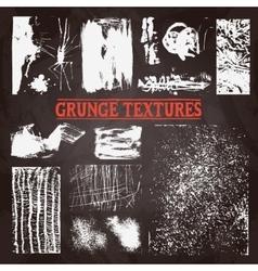 Chalkboard Grunge Texture Set vector image vector image