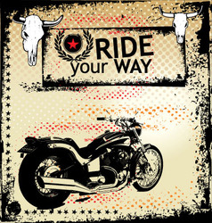 ride your way background vector image