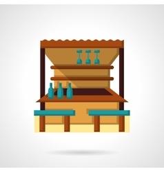 Tropical bar flat color design icon vector image