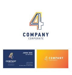 4 company logo design vector image