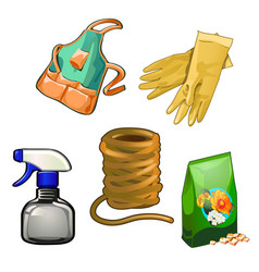 a set tools for gardening and housework vector image