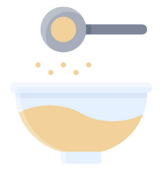 Add ingredients icon bakery and baking related vector