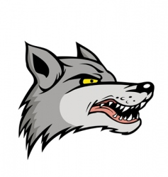 angry wolf vector image