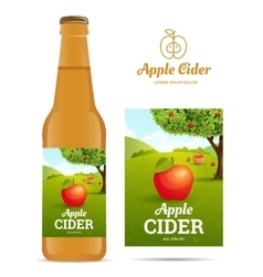 Apple cider sticker vector image vector image