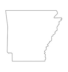 Arkansas state of usa - solid black outline map vector