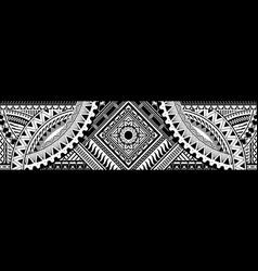 Art tattoo sleeve in polynesian style border vector
