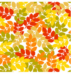 autumn seamless pattern with hand drawn dog rose vector image