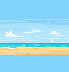 Background of sea shore vector
