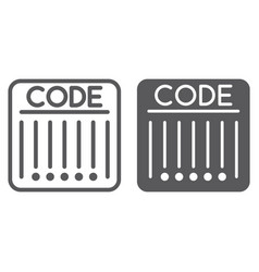 Barcode line and glyph icon retail and strip vector
