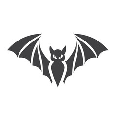 bat glyph icon halloween and scary animal sign vector image