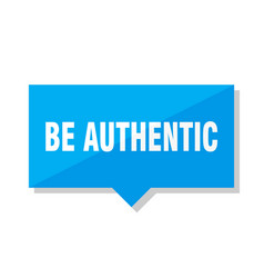Be authentic price tag vector