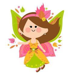 Beautiful autumn fairy vector