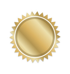 blank gold document award certificate seal vector image
