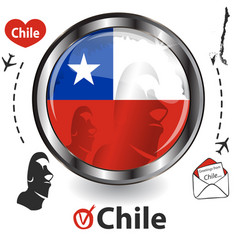 Card with chile vector