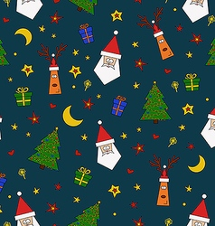 Christmas pattern vector image