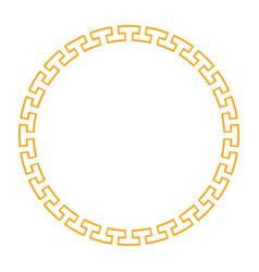 Circle golden frame vector