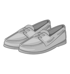 Denim loafers icon gray monochrome style vector