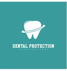 Dental protection logo template design vector