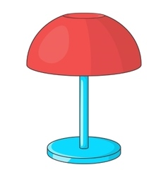 Desk lamp icon cartoon style vector