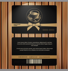 Discound card premium coffee cup with text vector