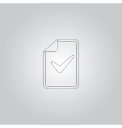document with check mark vector image