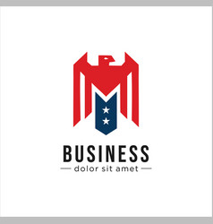 Eagle made in usa united states america logo icon vector