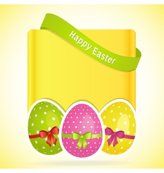 Easter egg background with banner vector