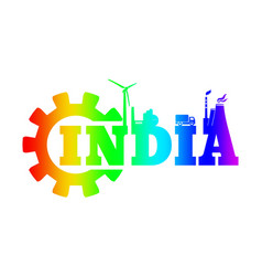 energy and power icons india word vector image