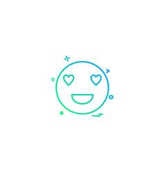 eyes heart smiley emoji icon design vector image