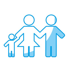 Family figure icon vector