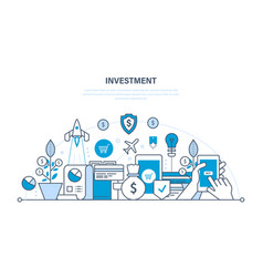 Financial investments security of deposits vector