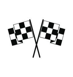 Finishing flags black simple icon vector image