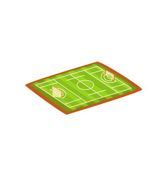 Football or soccer stadium green sports ground vector