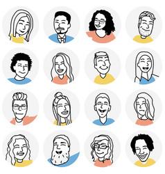 Funny people avatars vector