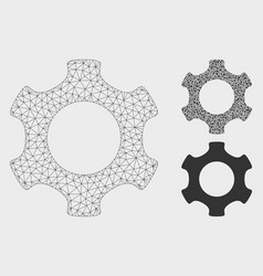Gear mesh carcass model and triangle mosaic vector