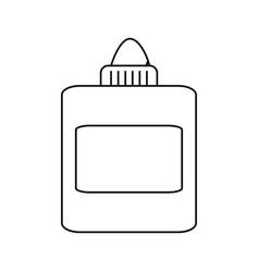 glue bottle cartoon vector image