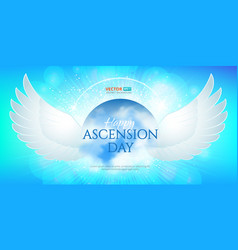 greeting card or banner to ascension day jesus vector image