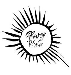 grunge frame with graphic sunbeams vector image