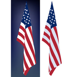 hanging down flag vector image